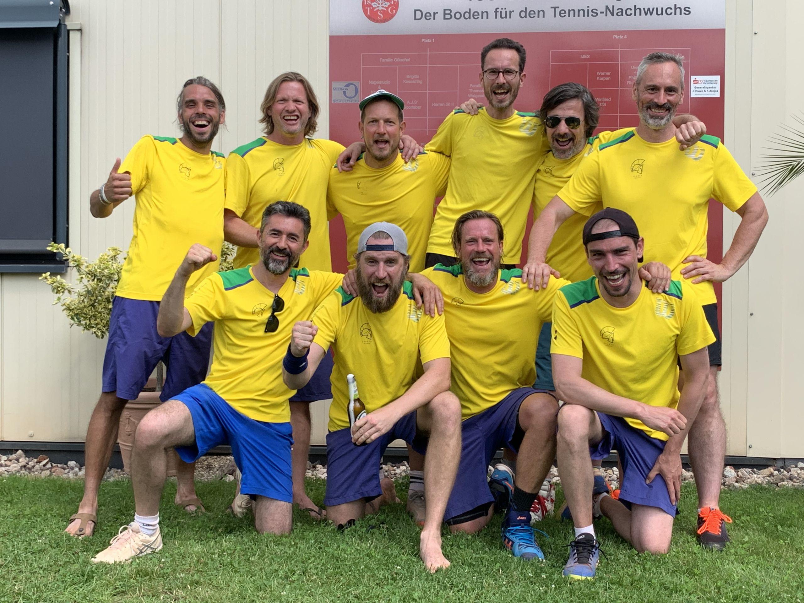 Derbysieg! Sparta Tennis Herren 30 gewinnen gegen TSG Bürgel …